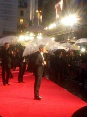 Benedict Cumberbatch posing for red carpet photos