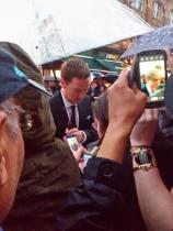 Benedict signing autographs near us